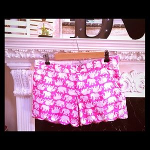 Lilly Pulitzer Elephant Buttercup Shorts 💕🍍🌴